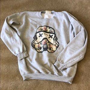 Sweaters - Floral Storm Trooper Sweatshirt